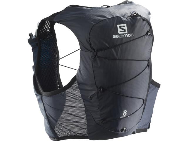 Salomon Active Skin 8 Backpack Set ebony/black
